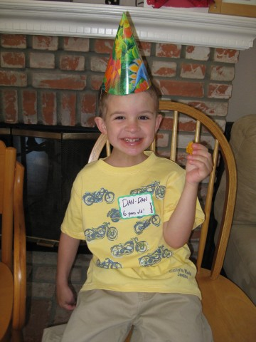 Daniel Solon Steussy on his sixth birthday