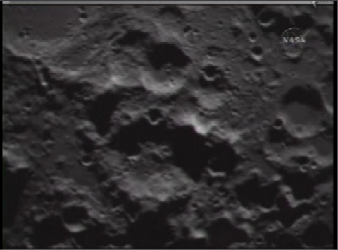 Next image in sequence of LCROSS impact