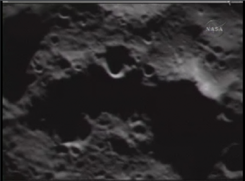 Next to last image before impact from LCROSS
