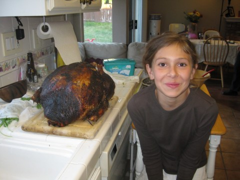 24 pound turkey and Isabella
